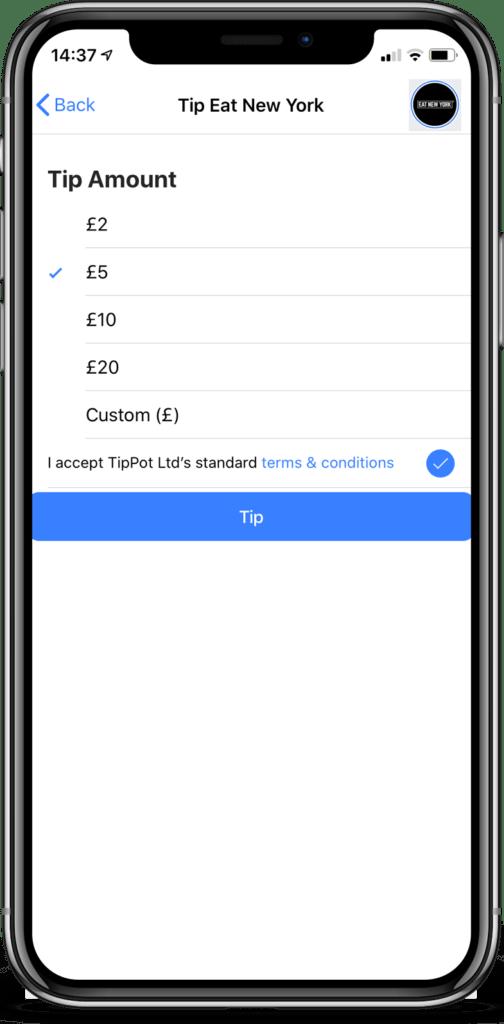 Tip Amount Screen
